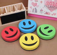 Cute Smile Magnetic Dry-Wipe Whiteboard Marker Cleaner Eraser For School Office