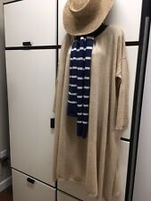 Journal Standard Luxe FREE SIZE CAMEL Alpaca Linen OVERSIZED SMOCK SWEATER DRESS