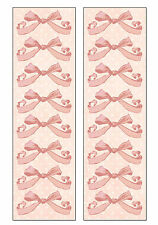 I.O.D. LULLABY GIRL PINK BOWS Sticker Strip scrapbooking 2 FOR 99 CENT SALE!