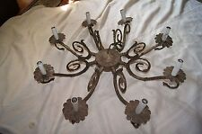 ANTIQUE EVROPIAN CAST METAL CHANDELIER FRAME FIXTURE PART FOR RESTORATION