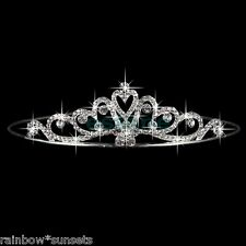 BRIDAL WEDDING FLOWER GIRL PROM PAGEANT TIARA RHINESTONE CRYSTAL CZ