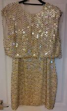 Gorgeous Rare ASOS Heavy Embellished two-piece Dress Size 12 BNWT