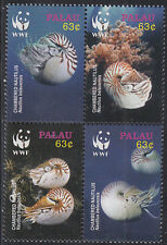 Palau MNH Sc 853 Value $ 5.25 US $$ WWF Nautilus Sea Shells