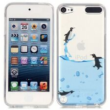 Penguin Sea Soft TPU Skin Cover Case For Apple iPod Touch 5 / iTouch 6 6th Gen