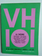 VH  101 N°2 Eté 1970 LA THEORIE