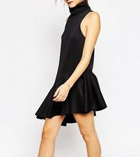 C/meo Collective Swept Away Dress in Black Sz M UK 10 RRP-£120.00 (G1)