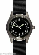 MWC A - 11 | 1940's U.S Army WWII Pattern | 24 Jewel Automatic | Satin Silver