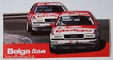 Aufkleber AUDI V8 quattro BELGA TEAM Tourenwagen Motorsport Racing Sticker Decal