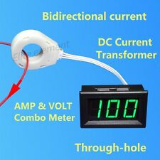 DC Current Transformer Hall Sensor Bidirectional Current 120V ± 400A Combo Meter