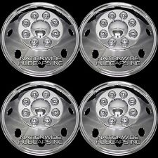 "CHROME Ford 16"" 8 Lug Dual Steel Wheel Simulators Dually Rim Skins Liners Covers"