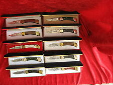 """THE HERITAGE EDITION""   110 BUCK KNIFE COMPLETE SET OF 10  HARLEY DAVIDSON"