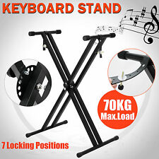 Keyboard Stand Height Adjustable Foldable Music Piano Double Braced X Type
