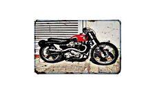 Ariel Scrambler Motorbike Sign Metal Retro Aged Aluminium Bike