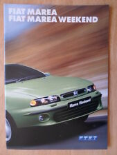 FIAT MAREA SALOON & WEEKEND orig 2001 UK Mkt sales brochure