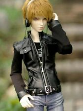[wamami] 770# Black Leather Jacket Coat Outfit SD DZ 1/3 AOD DOD BJD Dollfie