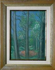 """Hermine DAVID: peinture huile, 1963, """"au parc Montsouris"""", signée, certificat"""