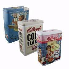"Set di 3 VINTAGE KELLOGGS cereali TIN CORN FLAKES ""Designs"