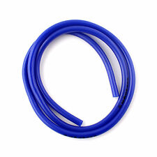 Motorcycle 3/16in 8mm Fuel Gas Vent Drain Line Hose 3 ft Carb CLEAN BLUE +Buckle