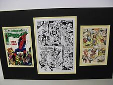 Production Art JOHN ROMITA Amazing Spider-Man 68 pg 18 w/cover & page prints