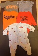 Lot Of 5 Carter's Boys 3M Onesies