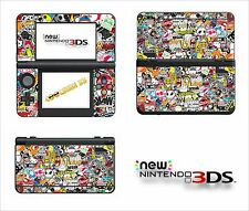 SKIN STICKER AUTOCOLLANT - NINTENDO NEW 3DS - REF 191 STICKER BOMB