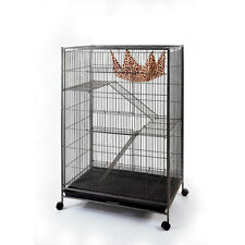 Large Wrought Iron 3 Levels Cage for Cat Ferret Chinchilla Sugar Glider Bird