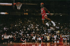 "Michael Jordan ""Dunk"" - Large Poster 24x36 Pop Culture Basketball Sports"