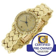 Ladies Chaumet Paris Elysees Solid 18k Yellow Gold Diamond Quartz Watch
