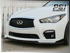 S Type Carbon Fiber Front Bumper Lip For Infiniti Q50 2014-2016 w/ Sport Package