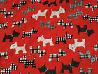Scottie Dog Scottish Terrier Poly Cotton Fabric - Per Metre