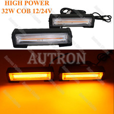 32 W COB LED High-power Security Emergency Warn Flashing Strobe Light Bar Amber
