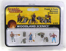 HO Scale Model Railroad Trains Woodland Scenics People and Racoon Figures 1875