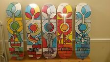 Habitat skateboards stained glass series (complete )