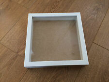 Square Shadow Deep Box, Wooden Picture / Photo Frame - NEW 9x9 inch - WHITE