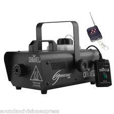 Chauvet Hurricane 1000 Compact Smoke Fogger Fog Machine DJ Stage + 2 x Remotes