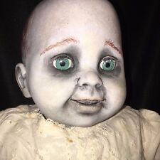 "GOTHIC BABY GHOST Haunted OOAK 21"" Geoffrey Inc. VINYL CLOTH DOLL Zombie REBORN"