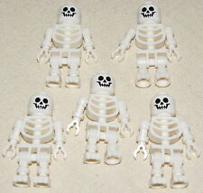 LEGO LOT OF 5 NEW CASTLE SKELETON MINIFIGURE MINIFIGS PIRATE MEN ARMY