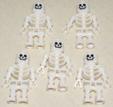 LEGO LOT OF 5 CASTLE SKELETON MINIFIGURE MINIFIGS PIRATE MEN ARMY