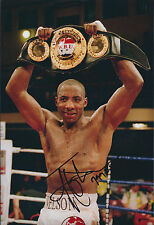 Johnny NELSON Signed 12x8 Autograph Photo AFTAL COA Sheffield Champion BOXER
