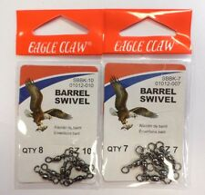 Eagle Claw Barrel Swivel 2 Pack QTY 8 Size 10 #01012-010 64G