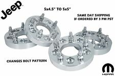 "Jeep Wheel Adapters 5x4.5 to 5x5 1.25"" American Solid 6061 Aluminum Grade"