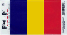 ROMANIA FLAG LAMINATED CAR SELF ADHESIVE VINYL DECAL STICKER NEW