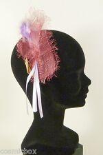 Chapeau de cérémonie femme pince RUE du BAG France rose & violet mariage soirée
