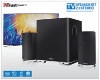 TRUST 20093 MITHO 60W RMS 120W PEAK BLACK 2.1 SPEAKER SET FOR TV, PC, TABLET ETC