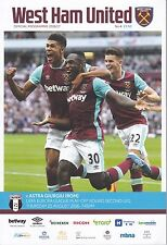 West Ham United v Astra Giurgiu Europa League play off round 2nd leg 25/8/16