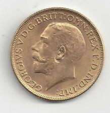 British India Sovereign 1918-I GEORGE V BEAUTIFUL gold coin, ONLY year of issue!