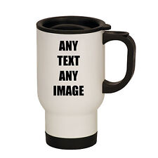 PERSONALISED THERMAL TRAVEL MUG CAR FLASK ANY IMAGE AND/OR TEXT GIFT THERMOS
