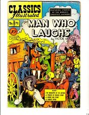Classics Illustrated 71 (1950): Man Who Laughs:Original: FREE to combine:Good/VG