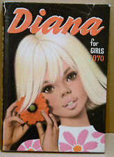 Book Children's Annual Diana for Girls 1970 Fashion Ponies Travel Ballet Stories