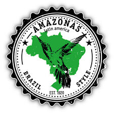 Amazonas Brazil Style Label Car Bumper Sticker Decal 5'' x 5''